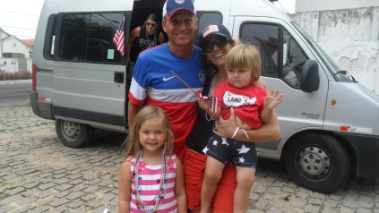 Author's family in USA soccer gear